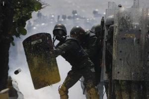 GNB se protege con sus escudos