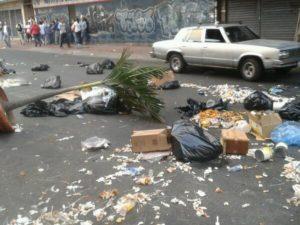 Barricada en La Candelaria