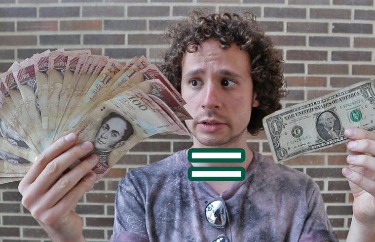 Muchos bolívares, pocos dólares