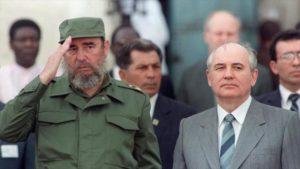 Fidel Castro y Mikhail Gorbachov