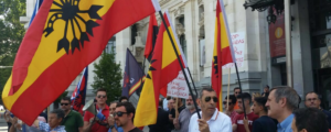 La falange se movilizó este año contra el orgullo LGBT