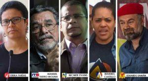 De cinco candidatos, tres vienen del chavismo