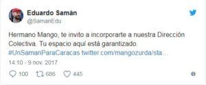 "Samán invitó a ""Mango"" a su alianza"
