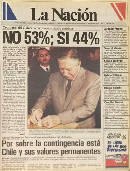 Pinochet no pudo contra el pueblo