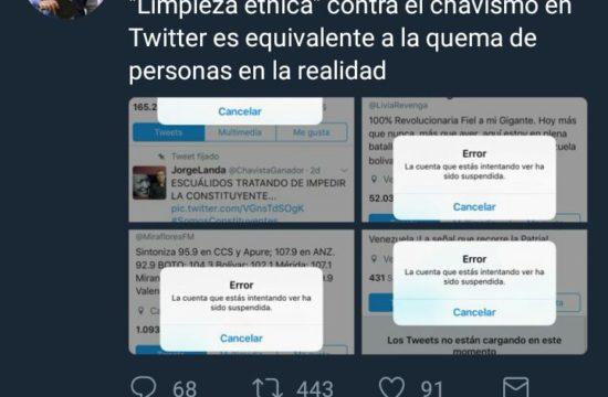 Ministro califica de Limpieza Étnica la decisión de Twitter
